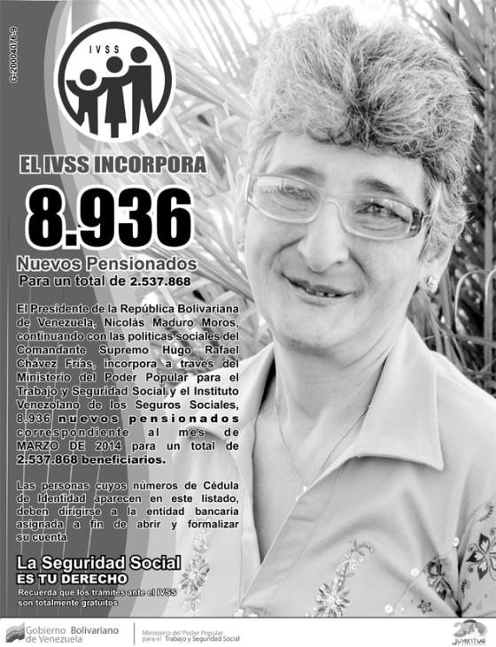 Descargar nuevo listado de pensionados del seguro social IVSS (23/02